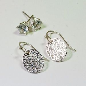 Touch of Silver 2-Pc. Set Earrings Crystal